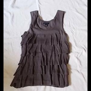 Tommy hilfiger sz. sm., grey knit vest